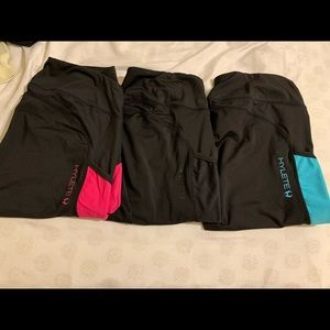 3 pairs of cropped Hylete leggings